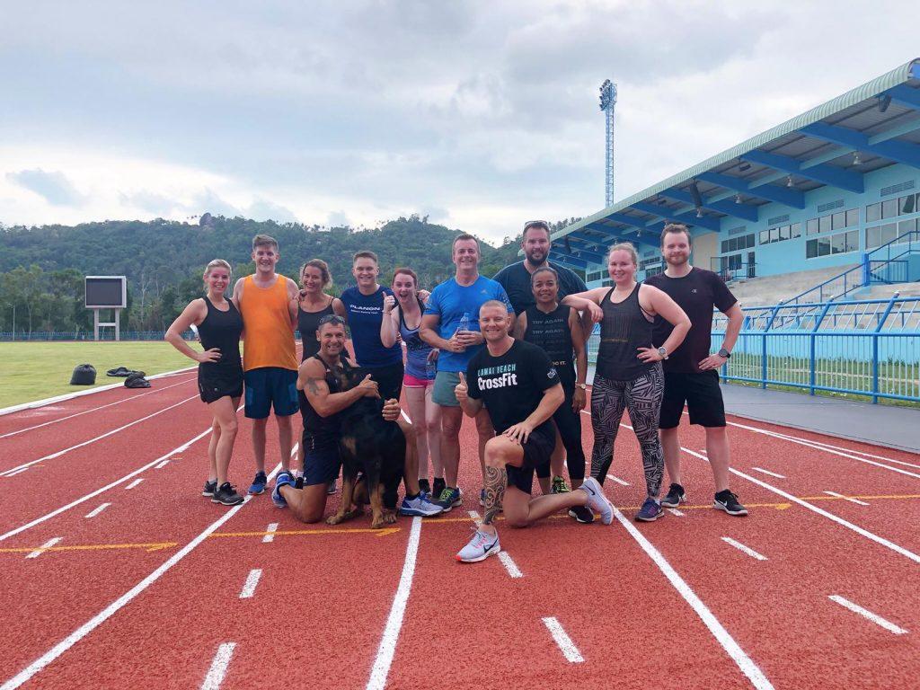 Run club with the Samui Fitness Retreat crew and doggie